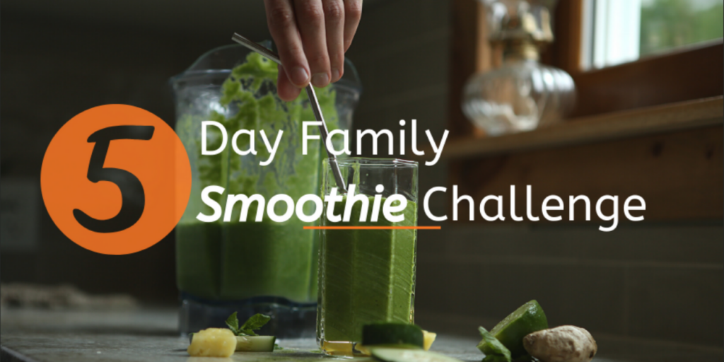 5 Day Family smoothie challenge promo