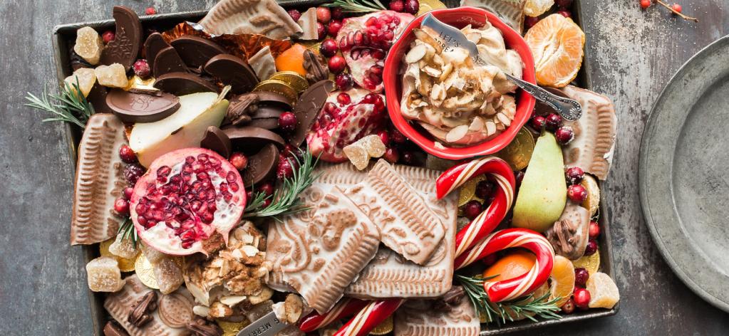 Feast of food around the holidays